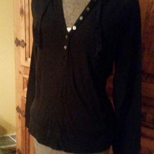 aerie Hooded Lightweight Popover Sweatshirt  Med